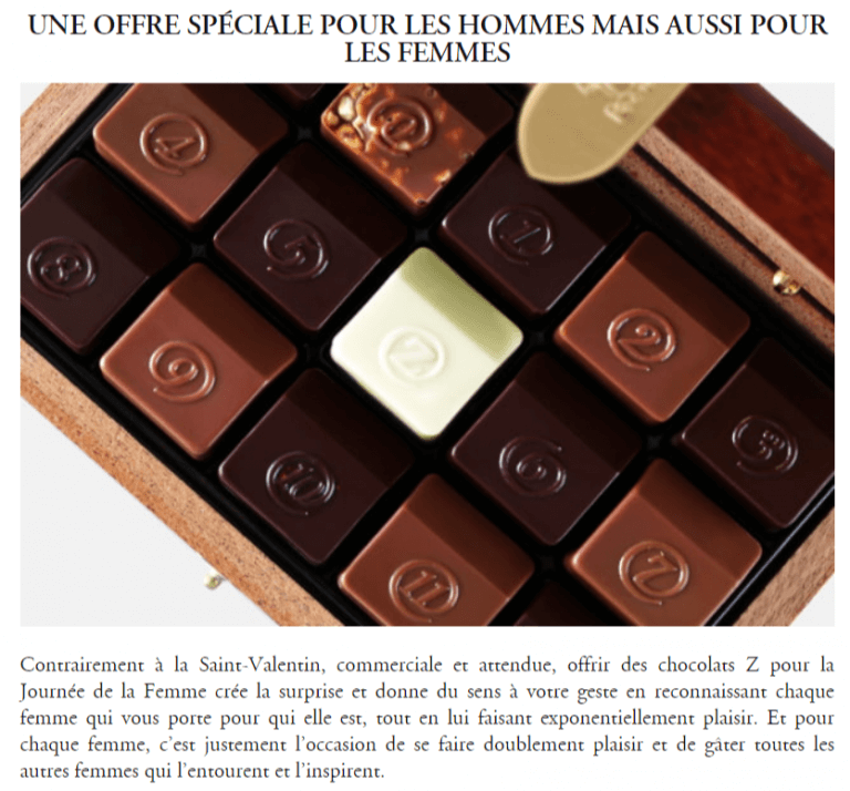 Z Chocolat : leur journée de la femme en 2020